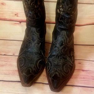 Corral Western Boots-VINTAGE GENUINE LEATHER